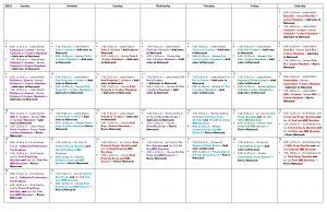 SAT Exam Study Schedule Calendar (Custom Calendar)